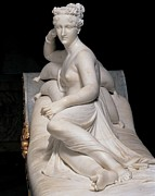 Jewellery Prints - Canova Antonio, Pauline Borghese Print by Everett