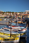Moorings Prints - Cassis Boats Print by Brian Jannsen