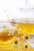 Teapot Photos - Chamomile tea by Elena Elisseeva