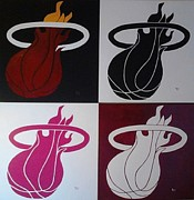 Miami Heat Painting Prints - Champions Print by Dawn Iraci