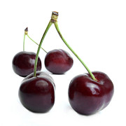 Food  Framed Prints - Cherries Framed Print by Bernard Jaubert