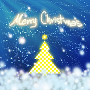 Backdrop Digital Art Originals - Chess Style Christmas Tree by Atiketta Sangasaeng