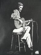 Featured Drawings Originals - Chet Adkins 1975 by Charles Rogers
