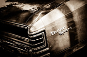 Chevelle Framed Prints - Chevrolet Chevelle SS Taillight Emblems Framed Print by Jill Reger