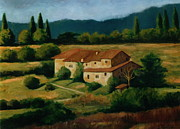 Tuscan Hills Framed Prints - Chianti Hills Framed Print by Colleen Gallo