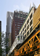Chicago Photo Metal Prints - Chicago Loop L Metal Print by Christine Till