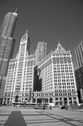 Travel Truck Prints - Chicago Skyscrapers Print by Frank Romeo