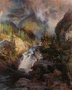Thomas Moran Prints - Children Of The Mountain Print by Thomas Moran