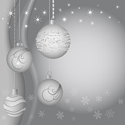 Christmas Eve Digital Art Posters - Christmas background Poster by Michal Boubin