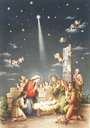Nativity Paintings - Christmas Card by French School