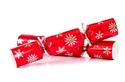 Ribbon Posters - Christmas crackers Poster by Elena Elisseeva