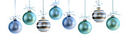 Panoramic Prints - Christmas ornaments Print by Elena Elisseeva