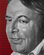 Author Framed Prints - Christopher Hitchens Framed Print by Simon Kregar