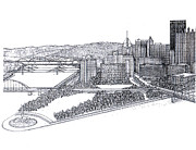 Pittsburgh Pirates Prints - City of Pittsburgh Print by Charles Ott
