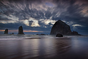 Haystack Rocks Prints - Clearing Storm Print by Andrew Soundarajan