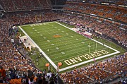 Cavaliers Metal Prints - Cleveland Browns Stadium Metal Print by Robert Harmon