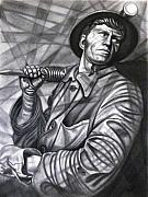 Coal Drawings Prints - Coal Miner Print by Raffi  Jacobian