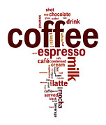 Wordcloud Prints - Coffee Print by Shawn Hempel