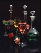 Decanters Photo Prints - Colors Print by Charles Haire