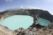 Tiwu Ata Polo Framed Prints - Colourful Crater Lakes Of Kelimutu Framed Print by Richard Roscoe