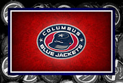 Puck Framed Prints - Columbus Blue Jackets Framed Print by Joe Hamilton