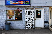 Window Signs Art - Congers New York - Gas Station by Frank Romeo