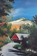 Covered Bridge Painting Metal Prints - Covered Bridge Metal Print by Peggy Martin