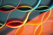 Curved Colorful Sheets Paper With Mirror Reflexions Print by Dan Comaniciu