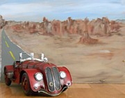 3-d Paintings - 3-D Desert Roadster by Brian Peterson