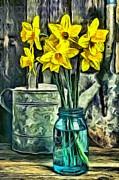 Daffodils Print by Edward Fielding