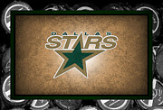 Skating Framed Prints - Dallas Stars Framed Print by Joe Hamilton