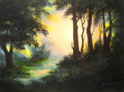Serenity Scenes Paintings - Dawn  Promise  by Shasta Eone
