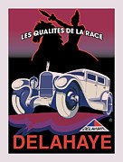 Vintage Travel Digital Art Framed Prints - Delahaye Framed Print by Gary Grayson