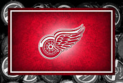Red Wings Framed Prints - Detroit Red Wings Framed Print by Joe Hamilton