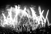 Burst Posters - Disney castle at night Poster by Fizzy Image