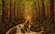 Nature Divine Mixed Media Posters - Divine Encounter Poster by Simon  Haiduk