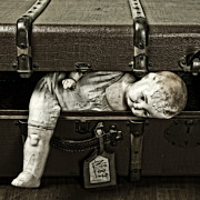 Broken Art - Doll In Suitcase by Joana Kruse