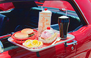 Cheeseburger Framed Prints - Drive-in Framed Print by Rudy Umans
