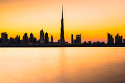 Luciano Mortula - Dubai skyline at dusk