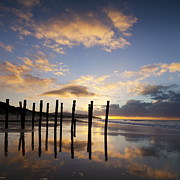 Dunedin Prints - Dunedin St Clair Beach at Sunrise Print by Colin and Linda McKie