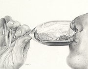 Sauvignon Drawings Prints - Earthy Print by Mark Treick