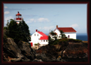 East Quoddy Lighthouse Photo Framed Prints - East Quoddy lighthouse Framed Print by Bob Swanson