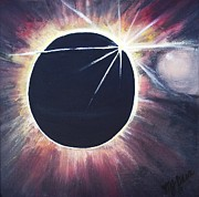 Solar Eclipse Painting Posters - Eclipse Poster by Mj Deen