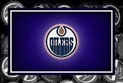Oilers Framed Prints - Edmonton Oilers Framed Print by Joe Hamilton