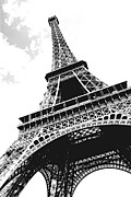 Cloudy Photo Prints - Eiffel tower Print by Elena Elisseeva