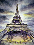 Paris Paintings - Eiffel Tower  by Irina Sztukowski