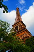 Metal Structure Digital Art Prints - Eiffel Tower Paris France Print by Patricia Awapara