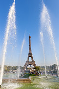 Travel Sightseeing Prints - Eiffel Tower Print by Sebastian Wasek