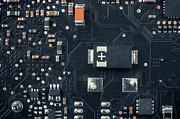 Electronic Board Closeup Photo Print by Oliver Sved