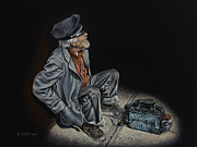 Sidewalk Paintings - Empty Pockets by Ricardo Chavez-Mendez